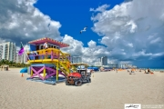 lifeguard-on-duty-in-tower-at-south-beach-miami-seagull-flying